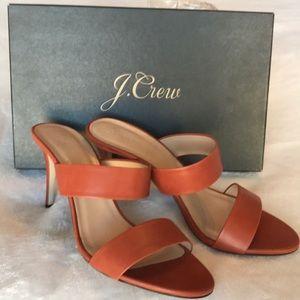New in box, pristine J.Crew '17 slides / heels $60